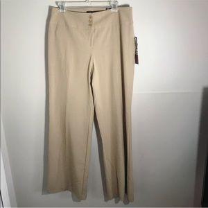 NWT Style&Co khaki wide leg dress pants Sz 10
